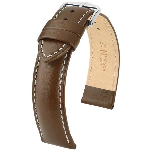 Hirsch horlogeband - TROOPER bruin leer 24mm