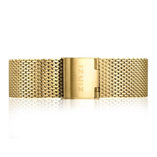 Zinzi Retro RETBAND13 stalen mesh horlogeband zilvergekleurd 18mm
