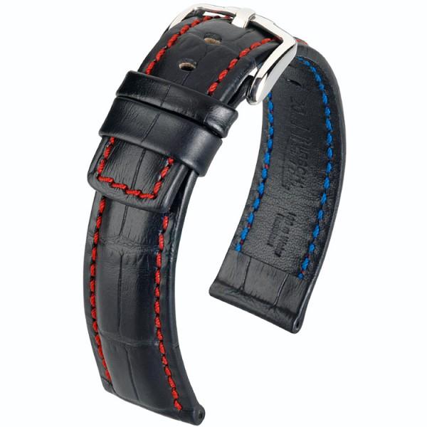 Hirsch Grand Duke horlogeband zwart 20mm