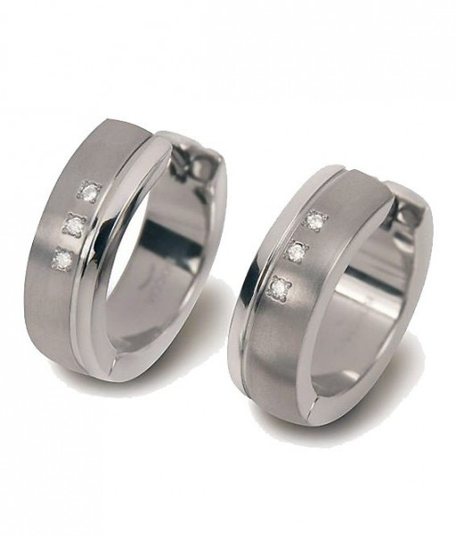 Boccia Titanium Oorsieraad Creoolhanger 0539-13