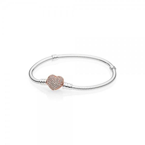 Pandora Moments Armband 586292CZ-20 Rosé Zilver Zirkonia