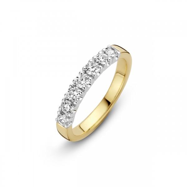Briljant - Memoire Gouden Damesring 7x0,03crt Diamant
