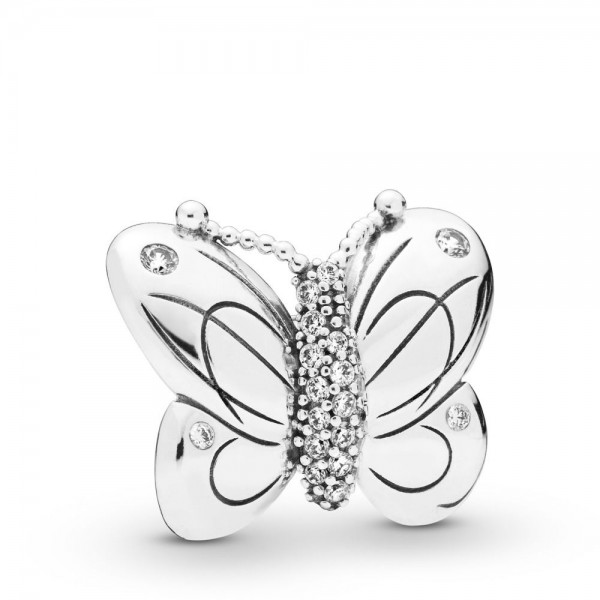 Pandora Moments Butterfly Bedel Dames 797880CZ Zilver Zirkonia