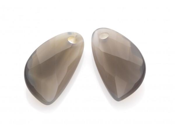 Sparkling Jewels Oorsieraad Gemstone EAGEM31-AS Grey Agate Facet