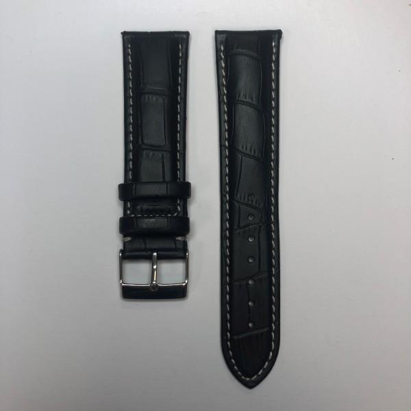 Remerko Horlogeband - Zwart - 22mm