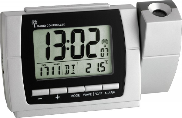TFA Dostmann Radio Controlled Projection Wekker 60.5002 Thermometer Digitaal