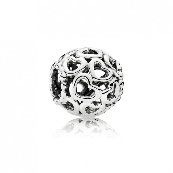 Pandora Moments Openwork Heart Bedel Dames 790964 Zilver