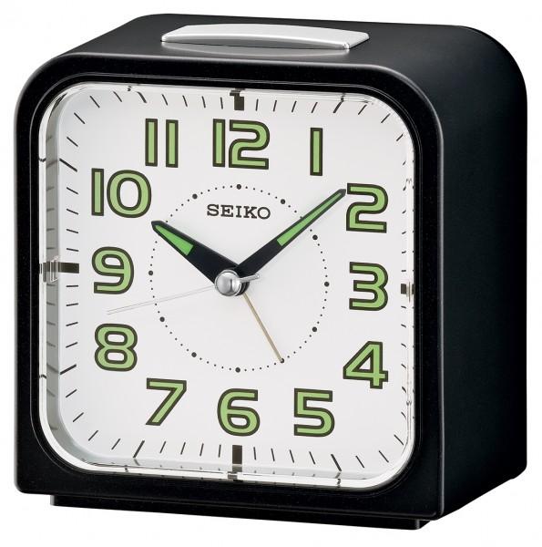 Seiko wekker - QHK025J - elektronische bel - Zwart kunststof kast