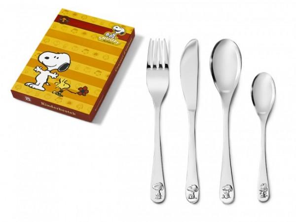 Zilverstad Kinderbestek Snoopy Edelstaal 4 delig