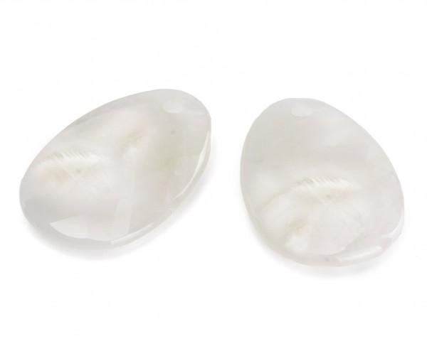 Sparkling Jewels Oorsieraad Gemstone EAPEARL-OV Facet Oval Pearl Drops