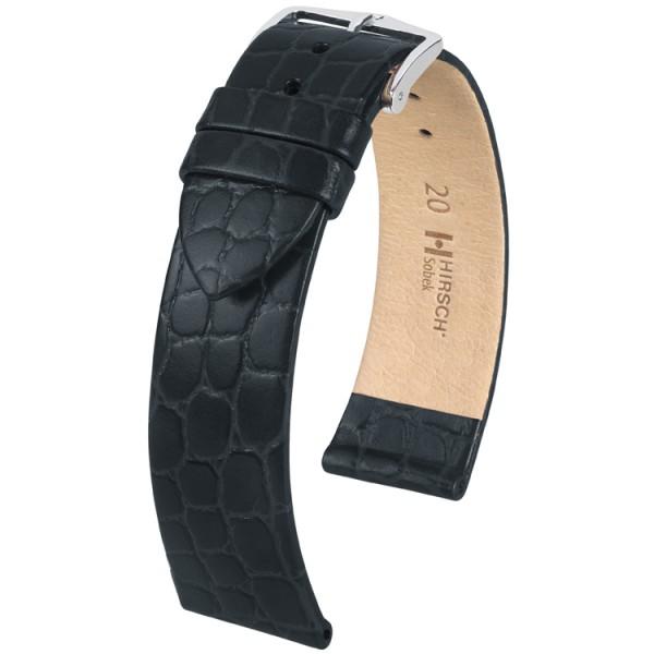 Hirsch horlogeband - Sobek zwart 20mm