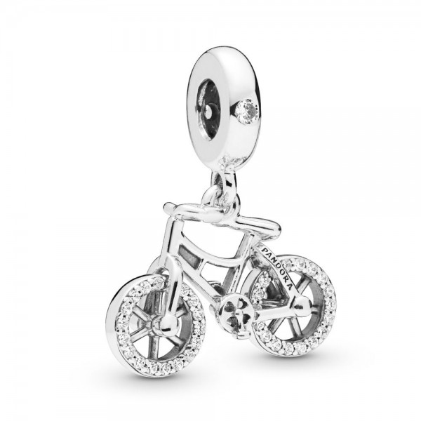 Pandora Moments Brilliant Bicycle Bedel Dames 797858CZ Zilver Zirkonia