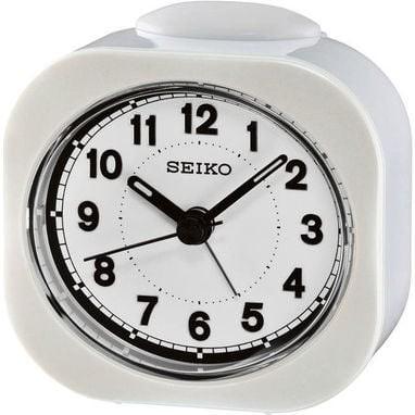 Seiko wekker met electronisch piep alarm - witte kunststof kast - QHE121W
