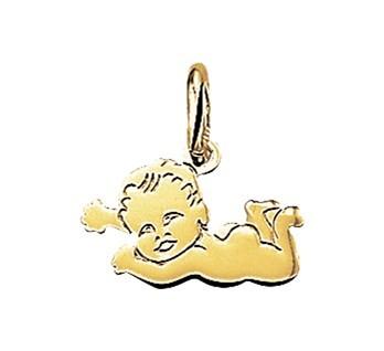 Gouden Hanger - Bedel - Liggende Baby 14karaat
