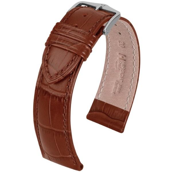 Hirsch horlogeband - Duke Donkerbruin - 14mm