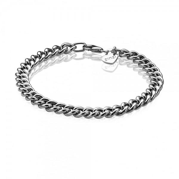 Zinzi Armband Dames Gourmetschakel ZIA1056 Zilver