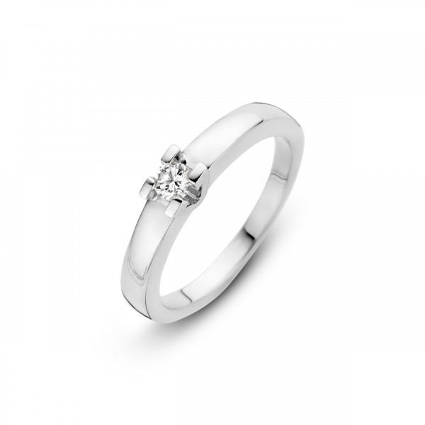 Briljant - Volonta Witgouden Damesring 0,20crt Diamant