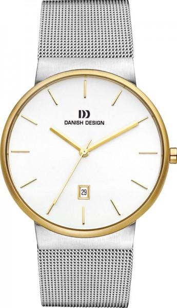 Danish Design Herenhorloge Quartz IQ65Q971 Zilver- en goudkleurig Wit