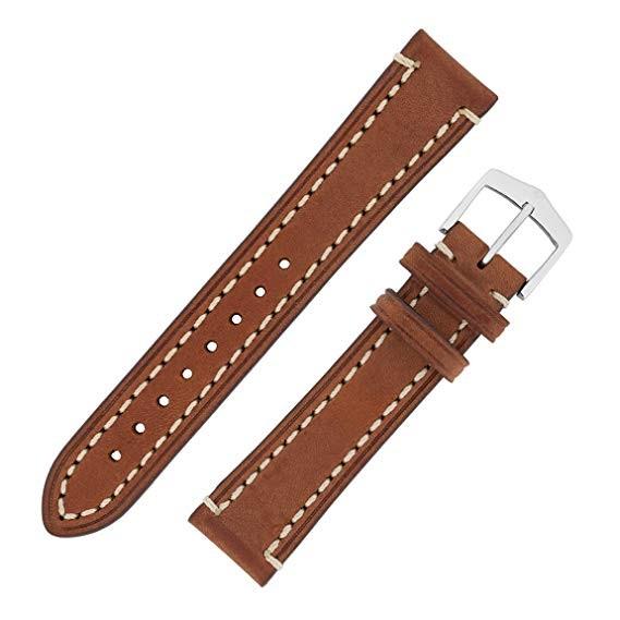 Hirsch Liberty Artisan Horlogeband 10900210-2-24 Bruin 24mm
