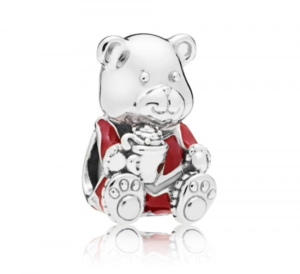 Pandora Bedel Christmas Teddy Bear 797564ENMX Zilver