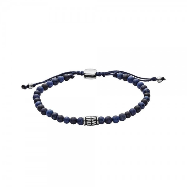Fossil Vintage Casual Heren Armband JF02888040 Blauw Zilverkleurig