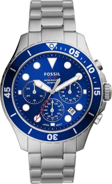 Fossil Herenhorloge FS5724 Chronograaf - Blauw