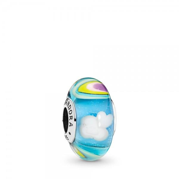 Pandora Rainbow Glass Bedel Dames 797013 Zilver Meerkleurig Muranoglas