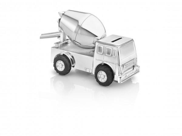 Zilverstad Spaarpot Cementwagen Verzilverd