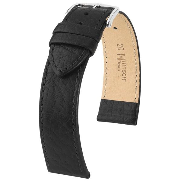 Hirsch Denver Horlogeband Unisex 24mm Zwart