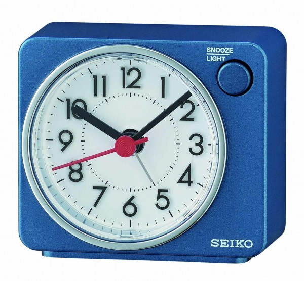 Seiko Wekker QHE100E Metallic Blauw