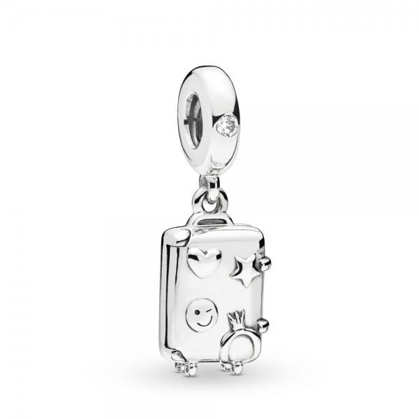 Pandora Moments Suitcase Bedel Dames 797887EN160 Zilver Zirkonia
