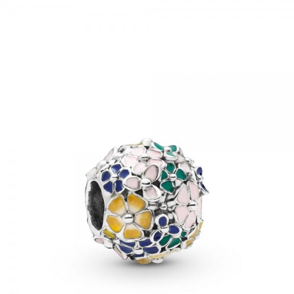 Pandora Moments Classic Flower Bedel Dames 797907ENMX Zilver Meerkleurig