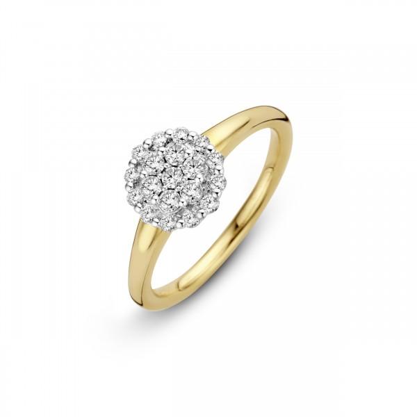 Briljant - Premium Collectie Gouden Damesring 0,40crt Diamant