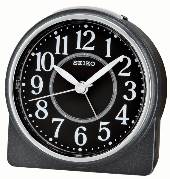 Seiko wekker - QHE137K - Zwart kunststof kast