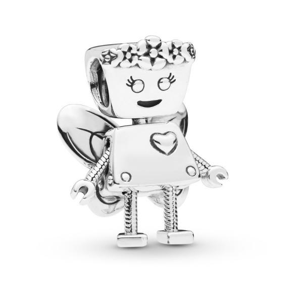 Pandora Moments Robot Girl Bedel Dames 797856 Zilver
