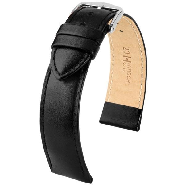 Hirsch horlogeband - CORSE - 24mm ZWART - M