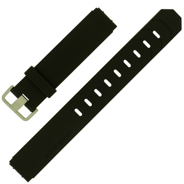 Jacob Jensen originele horlogeband rubber 19mm (matte gesp)