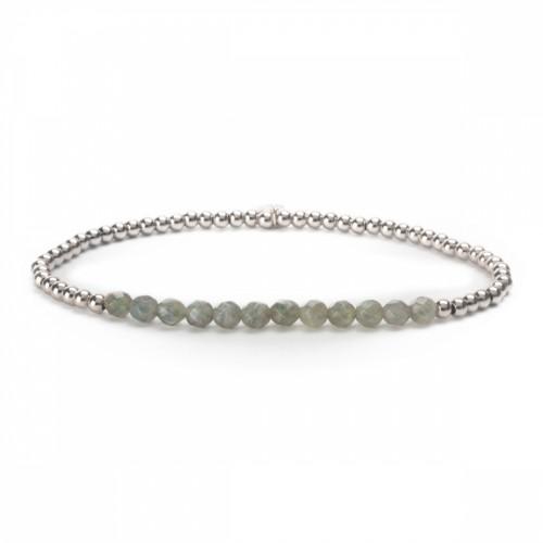 Sparkling Jewels Additional Line Damesarmband SBG-GEM07-3mm-LINE Labradoriet