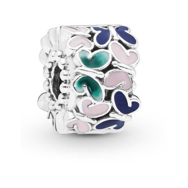 Pandora Moments Butterfly Clip Dames 797863ENMX Zilver Emaille