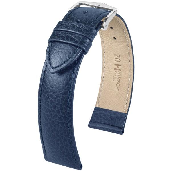 Hirsch Kansas Horlogeband Unisex 01502080-2-18 Blauw 18mm Kalfsleder