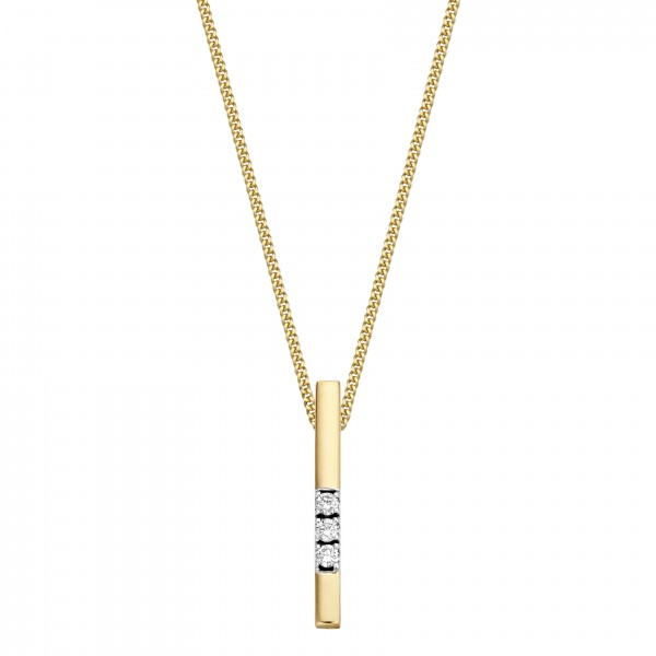 Briljant - Memoire Gouden Dameshanger 0,03crt Diamant