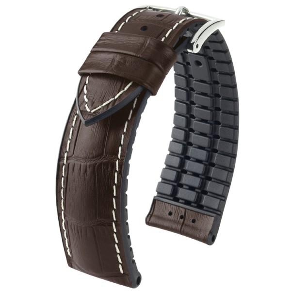 Hirsch horlogeband George L 22mm Donkerbruin
