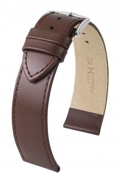 Hirsch horlogeband - UMBRIA - 20mm BRUIN - M