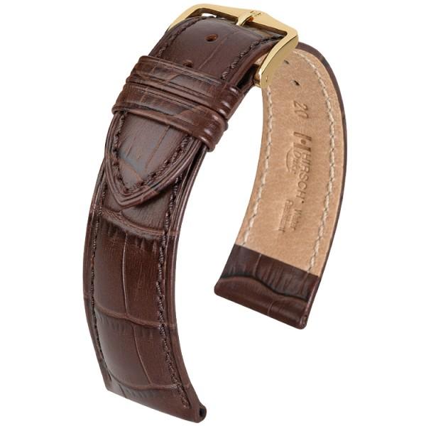 Hirsch horlogeband - Duke Donkerbruin M - 12mm