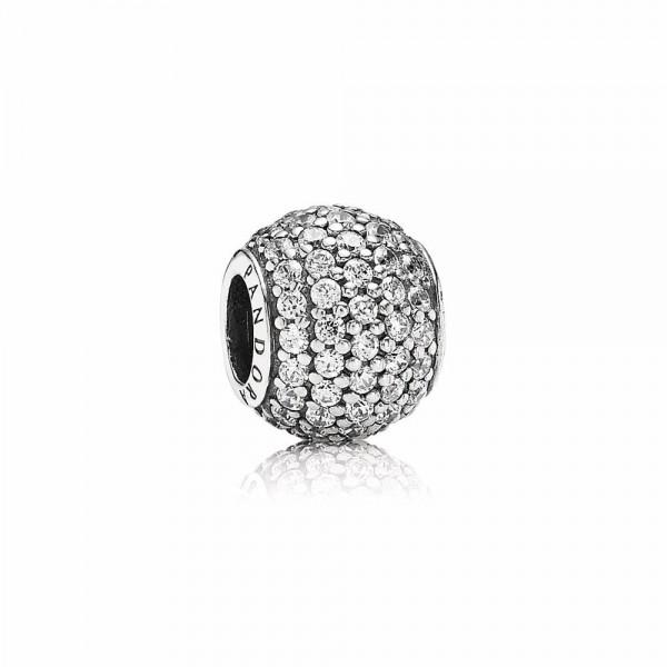 Pandora Pavé Ball Bedel 791051CZ Zilver Zirkonia