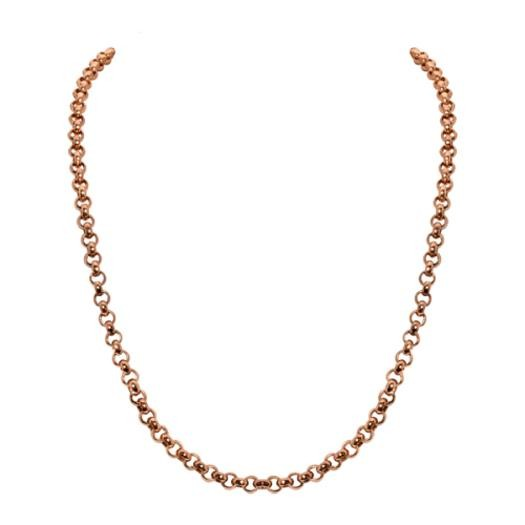 Sparkling Jewels Ketting SNRGM080 Rose Gold Plated Silver 80 cm