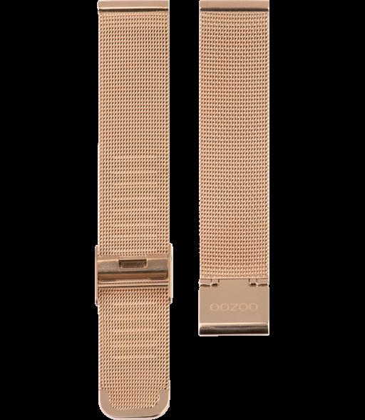 OOZOO horlogeband Milanees-Mesh edelstaal rosékleurig 20mm