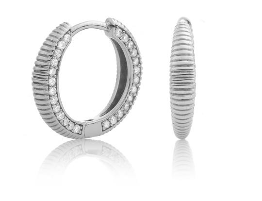 Sparkling Jewels Oorsieraad EAS03 Silver Swarovski