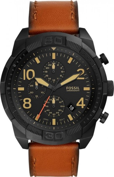 Fossil Bronson Herenhorloge FS5714 Chronograaf - Zwart Bruin