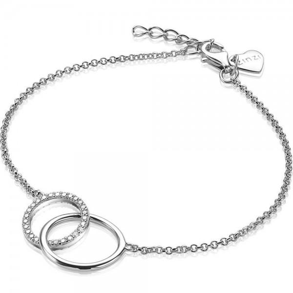 Zinzi Armband Dames Ronde Vormen ZIA1743 Zilver Zirkonia